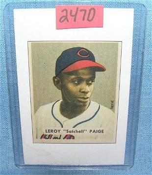 Satchell Paige Bowman reprint Baseball card
