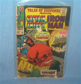 Early Capt America and iron man comic book