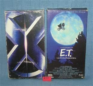 Pair of vintage videos includes Xmen and ET