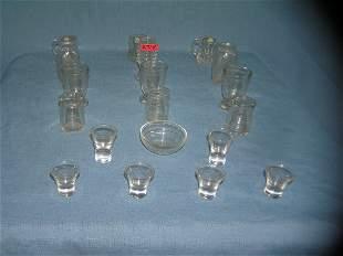 19 piece all glass high quality miniature set