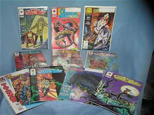 Collection of vintage Shadowman comic books