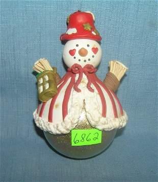 Modern snowman Christmas ornament