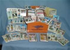 Large shoebox full of vintage NY Mets baseball cards