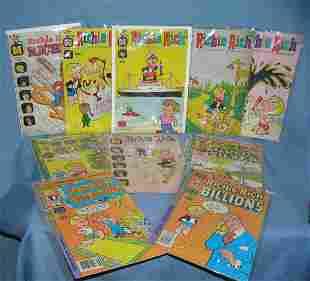 Large group of vintage Richie Rich comic books