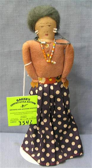 Antique native American Indian doll
