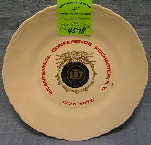 Bicentennial NYState police chief commemorative plate