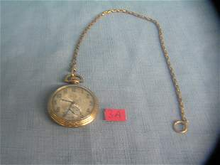 Elgin gold filled pocket watch with 15 jewels