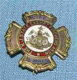 Fireman�s life membership badge