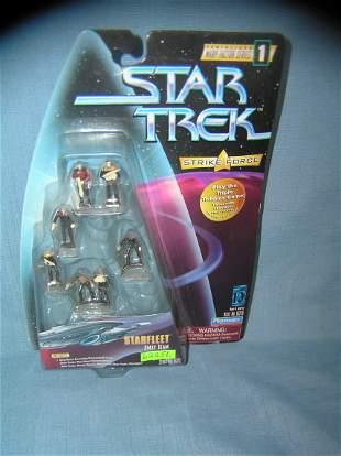 Vintage Star Trek mini figures play set mint on card