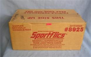 Sportsflics factory sealed unopened case of baseball