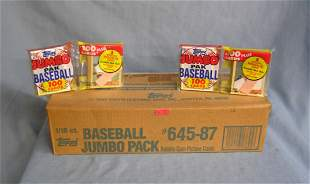 Topps factory sealed unopened case of jumbo pack