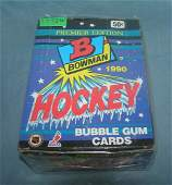 Bowman factory packed 36 pack Hockey sports card box