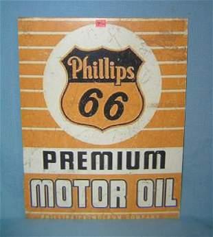 Phillip's 66 Premium Motor Oil retro style sign