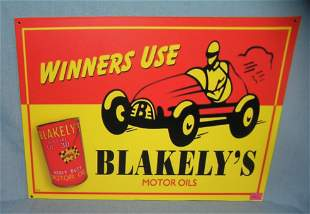 Blakeley's motor Oil retro style advertising sign