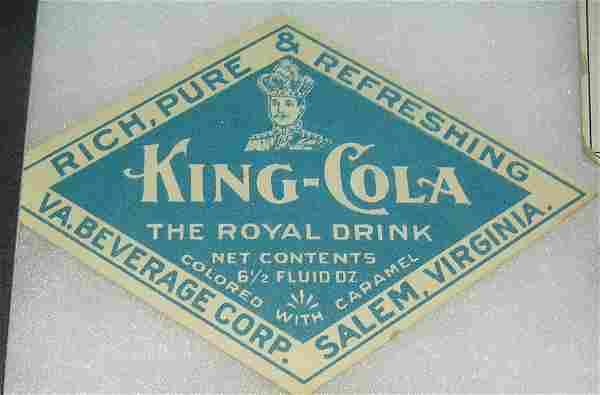 King Cola advertising piece
