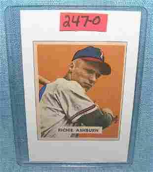 Richie Ashburn Bowman reprint Baseball card