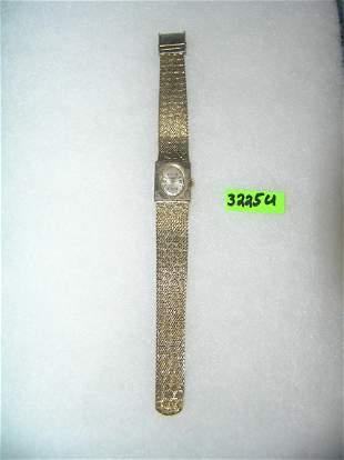 Omega gold tone wrist watch