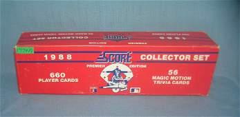 Score 1988 factory sealed baseball card set