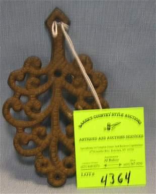 Antique cast iron trivet