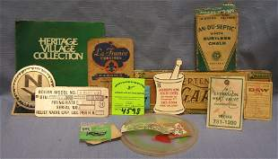 Advertising collectibles including early boiler plates