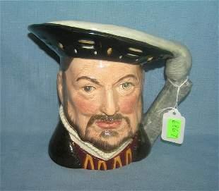 Large Royal Dalton Henry VIII figural Toby mug