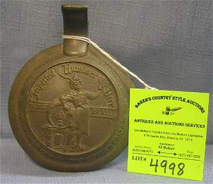 Early German pewter advertising beer stein