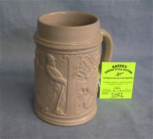 Vintage German Beer stein with early fire dept theme