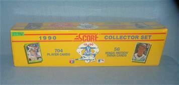 Score 1990 factory sealed baseball card set