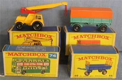 Group of four vintage Matchbox vehicles