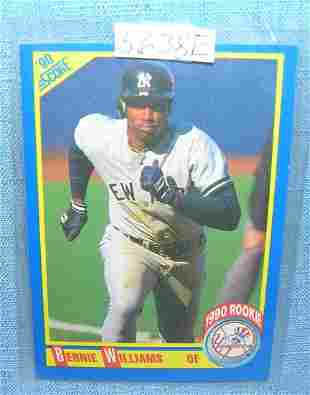 Bernie Williams rookie baseball card