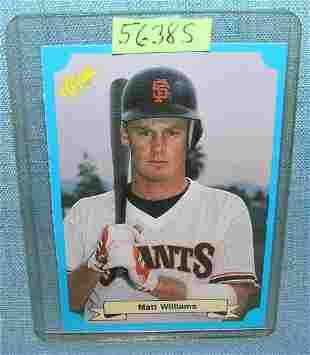 Matt Williams rookie baseball card