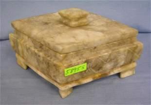 Marble diamond shaped jewelry or trinket box