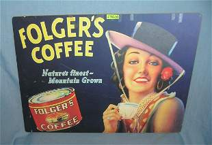 Folger's Coffee retro style advertising sign