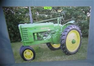 John Deere tractors retro style advertising sign