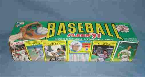 Fleer 1991 factory packed baseball card set
