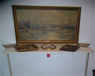 Large group of vintage estate found art work