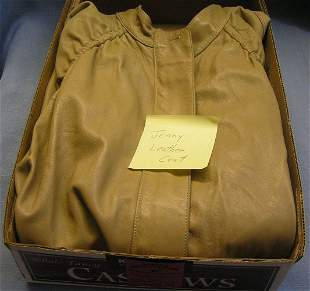 Vintage leather coat by Jenny