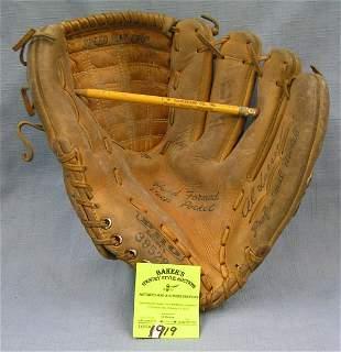 Vintage leather Al Larsen baseball glove