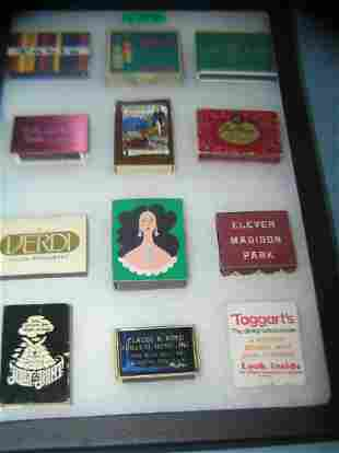 Collection of vintage match boxes and books