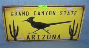 Grand Canyon state Arizona License plate size retro