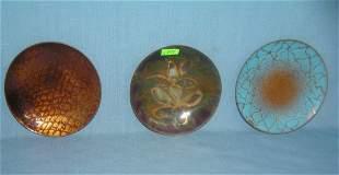 D. Wittenberg enamel over copper decorative dishes