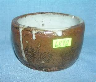 Drip glaze art pottery planter