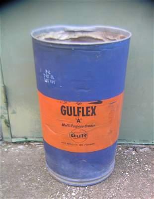 Gulf flex oil company muiltpurpose grease container