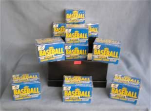Box full of Fleer factory sealed unopened baseball card