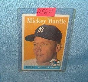Mickey Mantle 1958 Topps baseball card