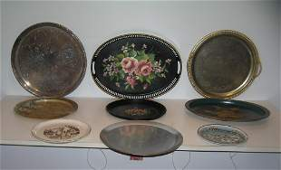 Floral dec. silver plated and souvenir plates