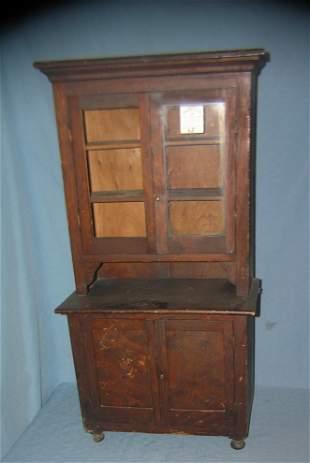 Antique oak child's cupboard