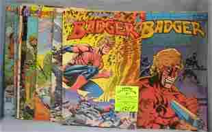 Large Group of vintage Badger comic books