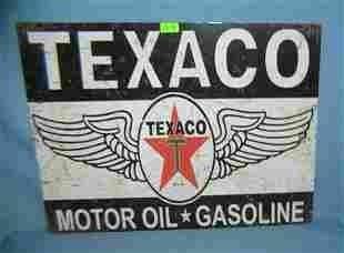 Texaco motor oil & gasoline retro style sign