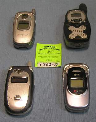 Group of modern cell phones